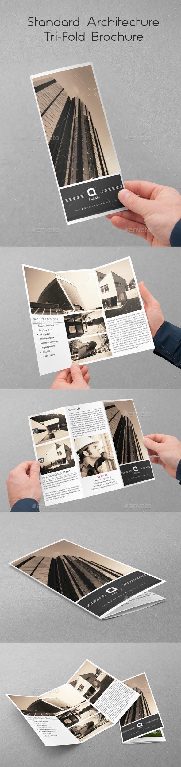 Standard Architecture Tri-Fold Brochure - Brochures Print Templates