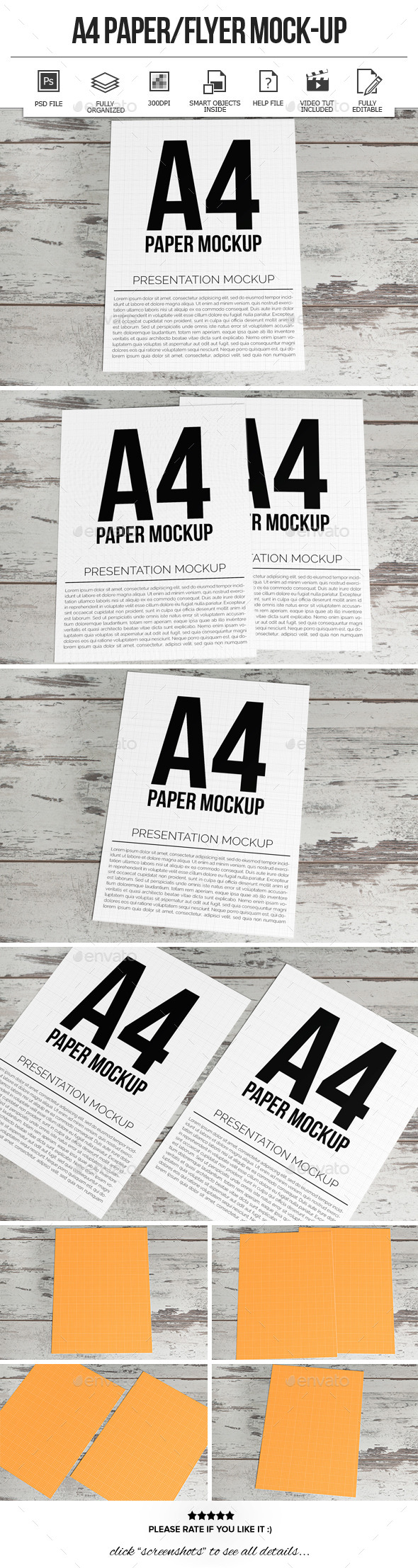 A4 Paper / Flyer Mock-Ups - Flyers Print