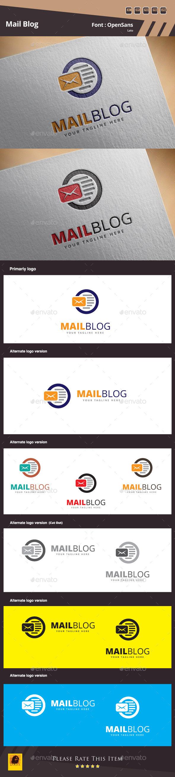 Mail Blog Logo Template - Symbols Logo Templates