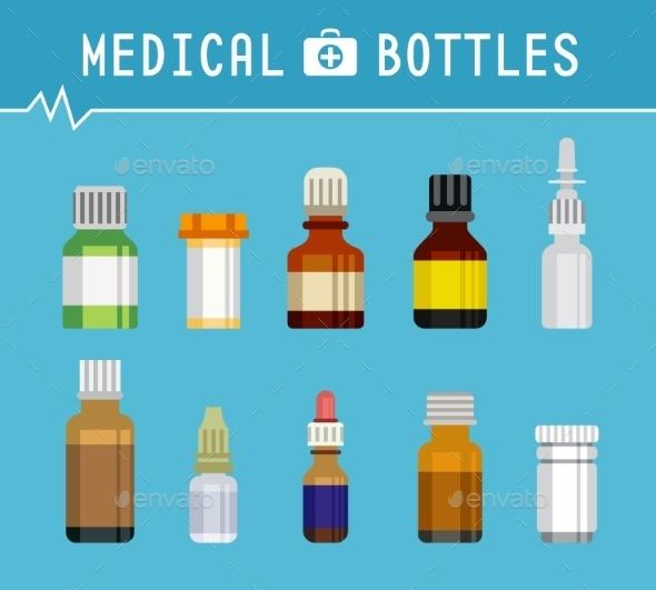 Various Medication Bottles for Medical - Health/Medicine Conceptual