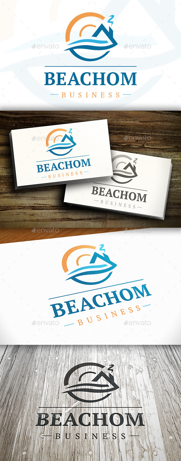 House Wave Logo - Buildings Logo Templates