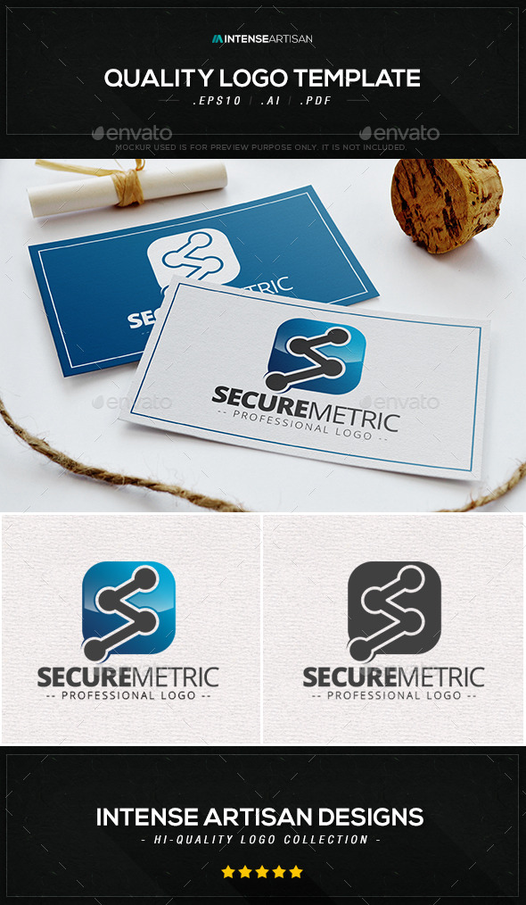 Secure Metric Logo Template - Letters Logo Templates