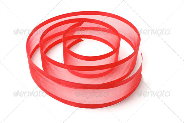 Red Ribbon Strip - Stock Photo - Images