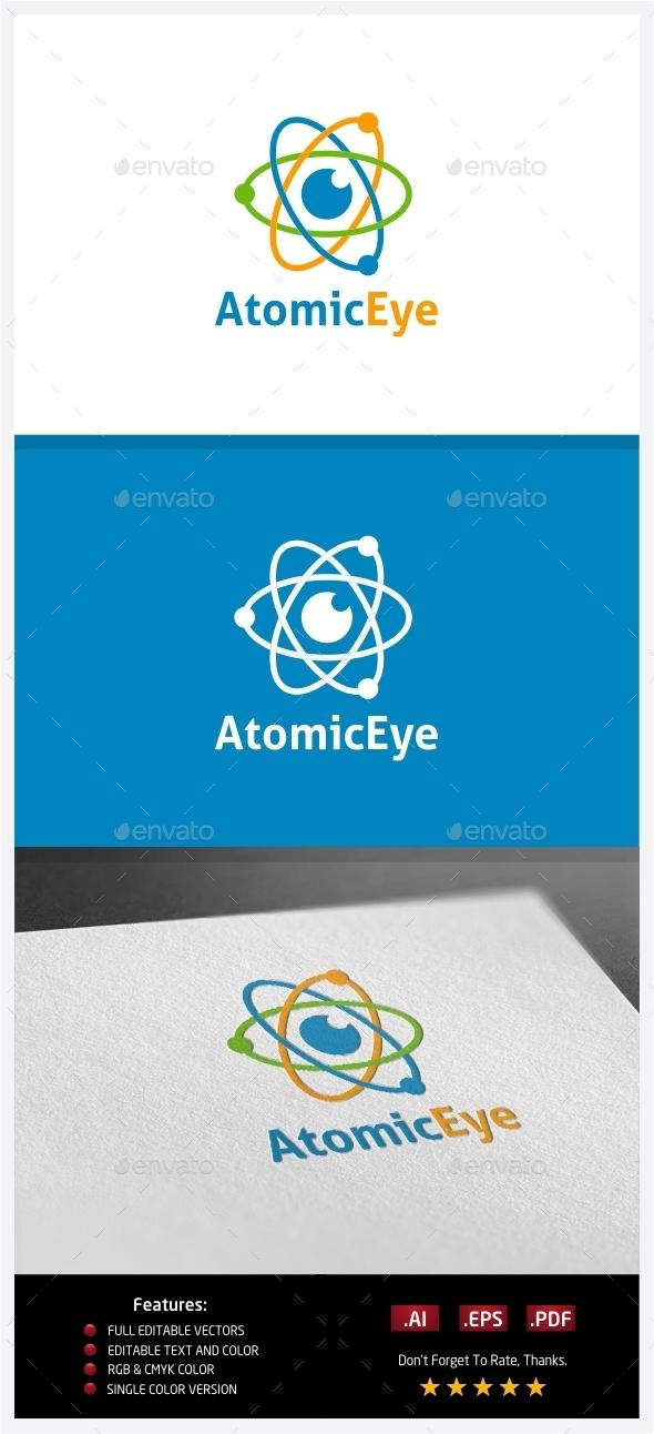 Atomic Eye Logo - Symbols Logo Templates