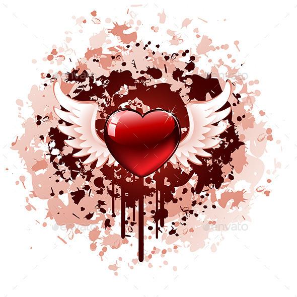 Valentines Day Grunge - Valentines Seasons/Holidays