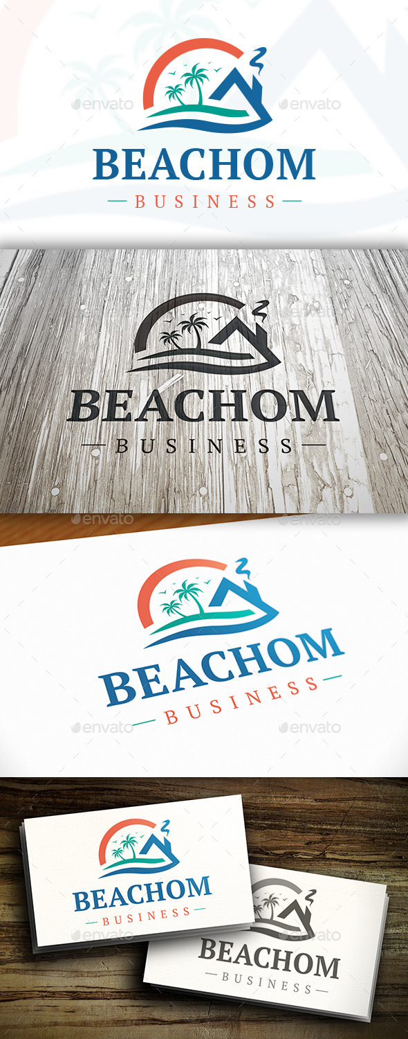 Beach Wave Logo - Buildings Logo Templates