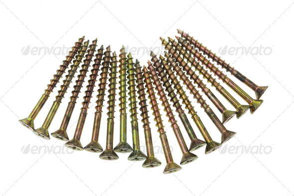 Arrangement of Screws - Stock Photo - Images