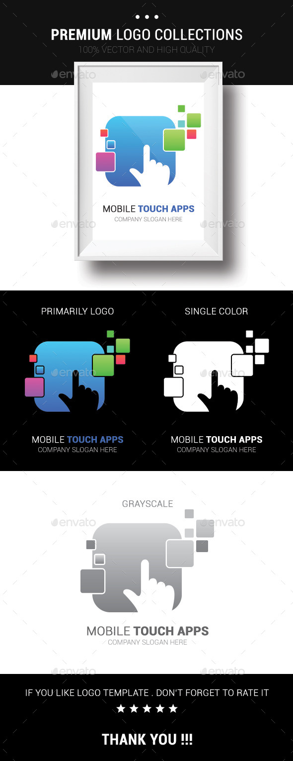 Mobile Touch Apps - Vector Abstract