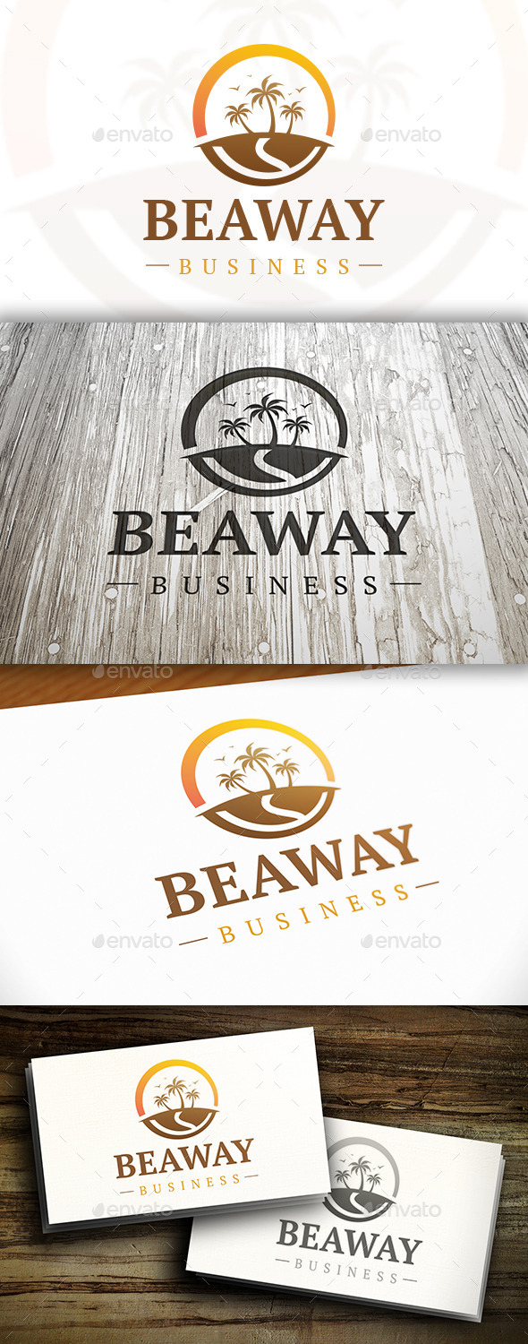 Beach Way Logo - Nature Logo Templates