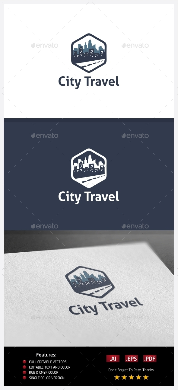 City Travel Logo - Buildings Logo Templates