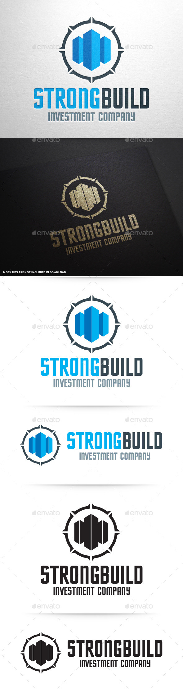 Strong Build Logo Template - Buildings Logo Templates