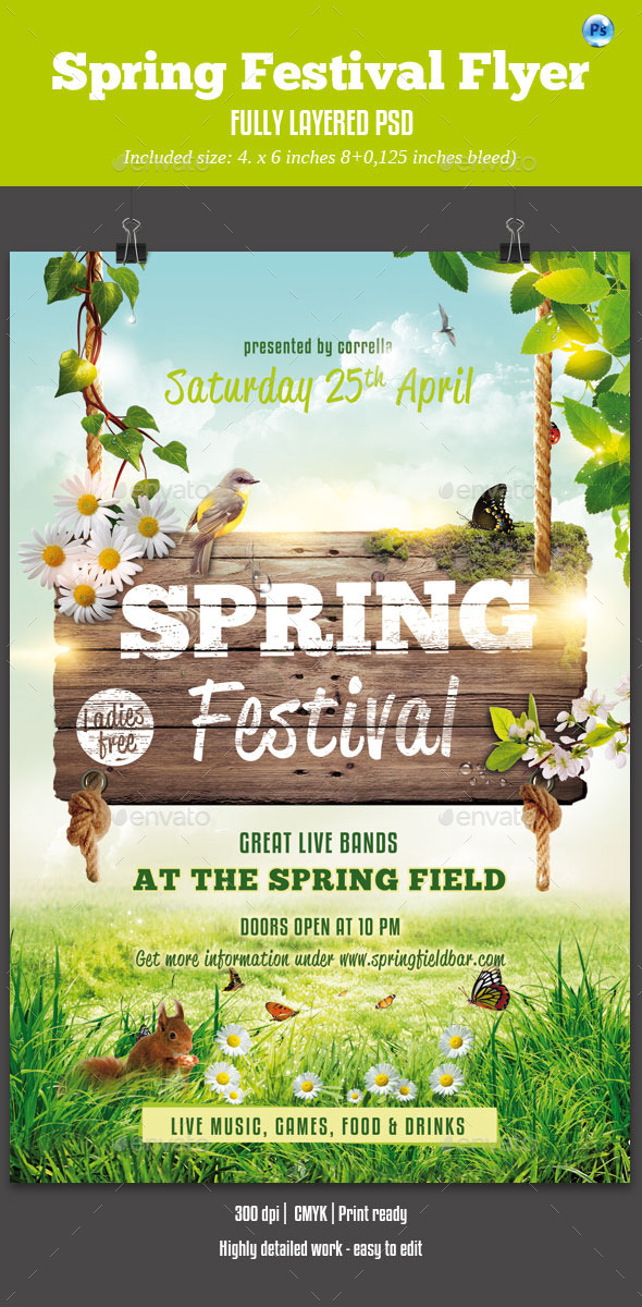 Spring Festival Flyer By Corrella  Graphicriver