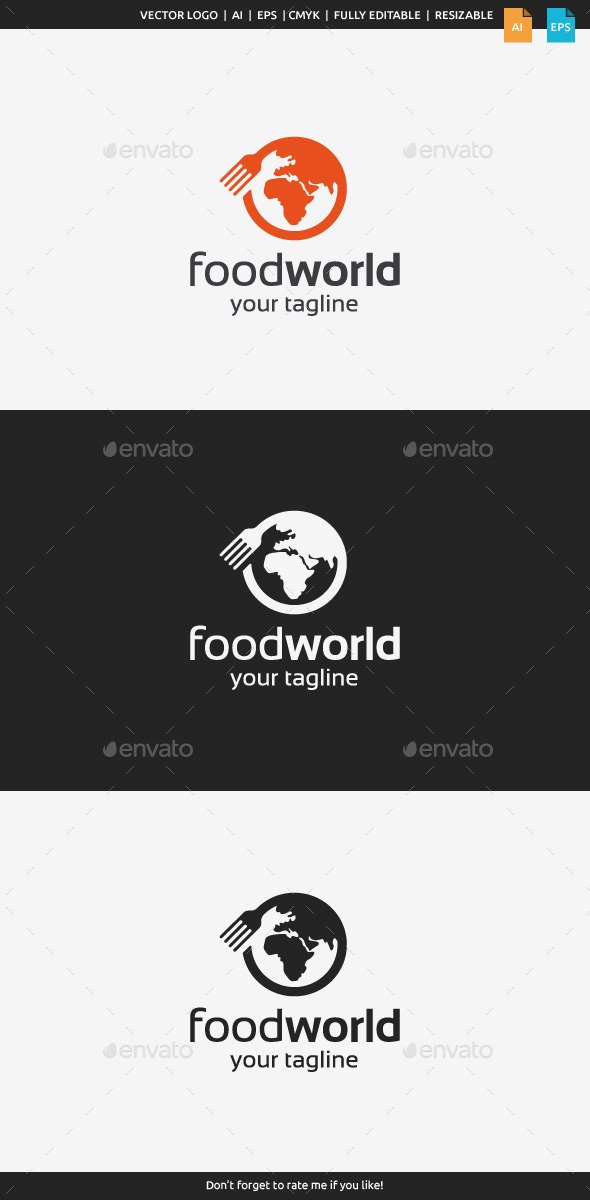 Food World Logo - Food Logo Templates