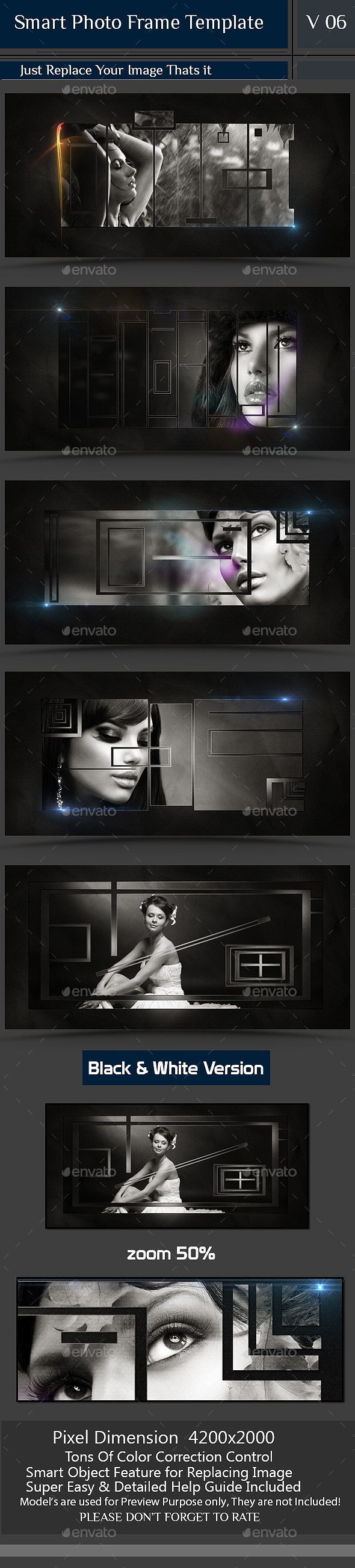 Smart Photo Frame Template V06  - Photo Templates Graphics