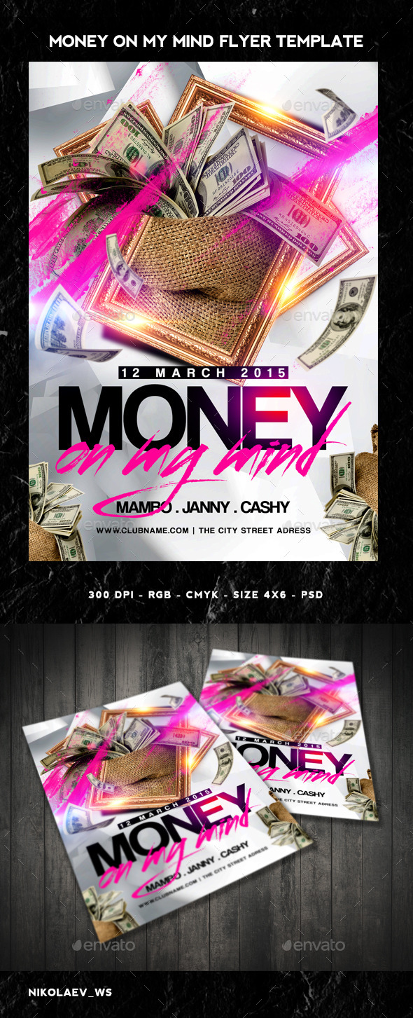 Money on my Mind Flyer - Clubs & Parties Events