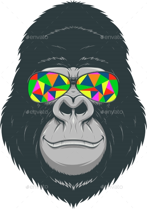 Cheerful Gorilla - Tattoos Vectors