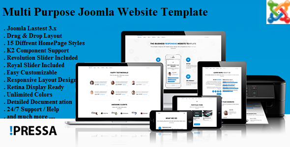 Pressa – Multi Purpose Joomla Website Template