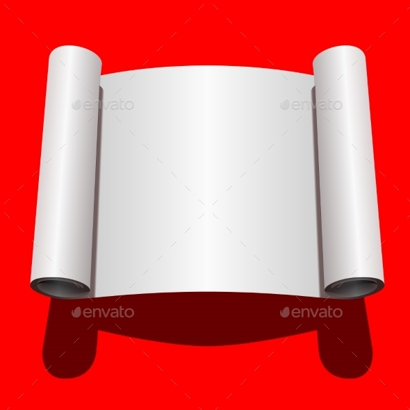 Roll of Blank White Paper - Backgrounds Decorative