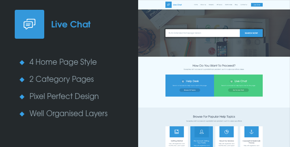 Live Chat - A Help Desk PSD Template by themexy | ThemeForest