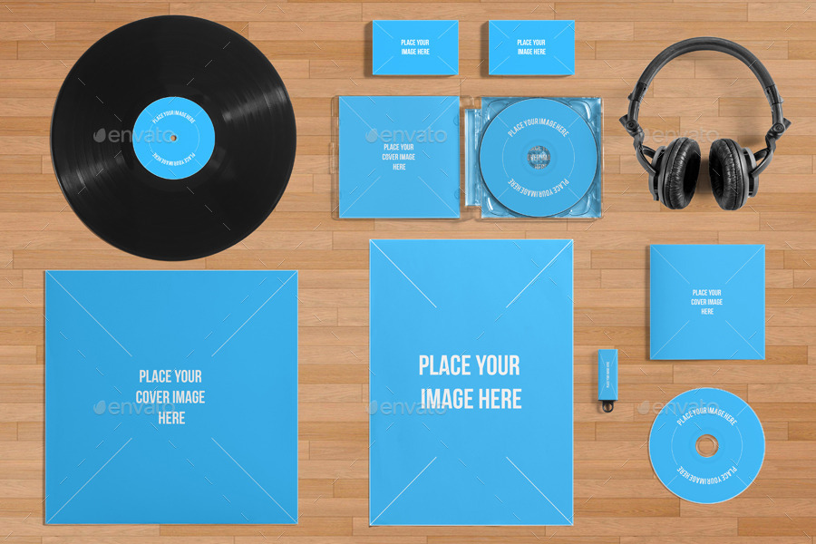 Vinyl Record & Album Cover Mock-ups - Party Pack by BlackNull ...