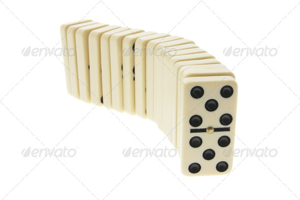 Row of Dominoes - Stock Photo - Images