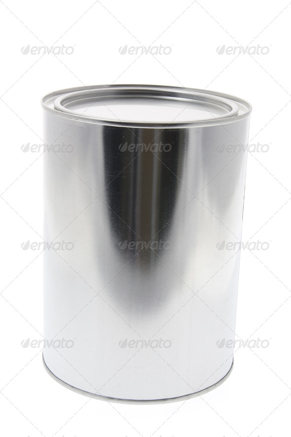 Metal Tin Container - Stock Photo - Images