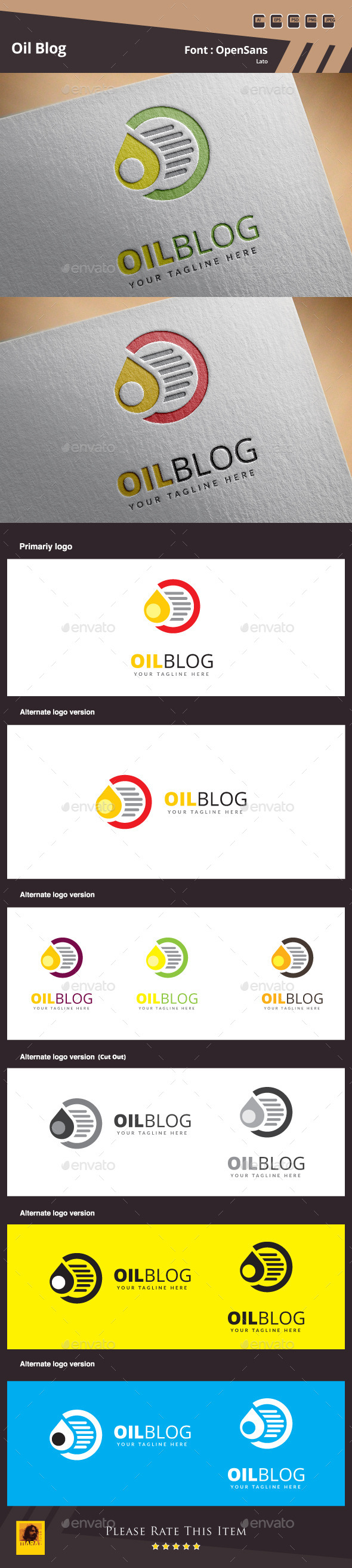 Oil Blog Logo Template - Symbols Logo Templates