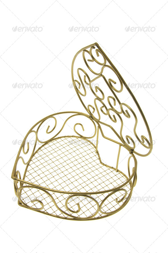 Heart-Shaped Metal Box - Stock Photo - Images