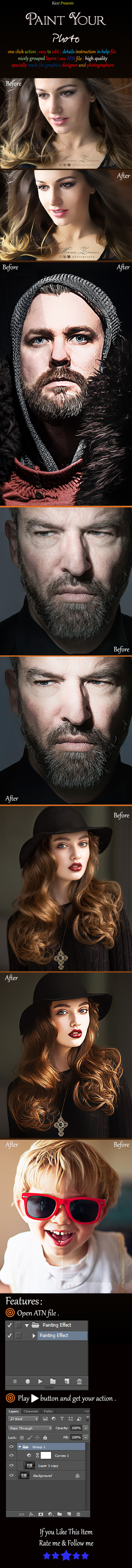 Paint Your Photo - Photo Effects Actions