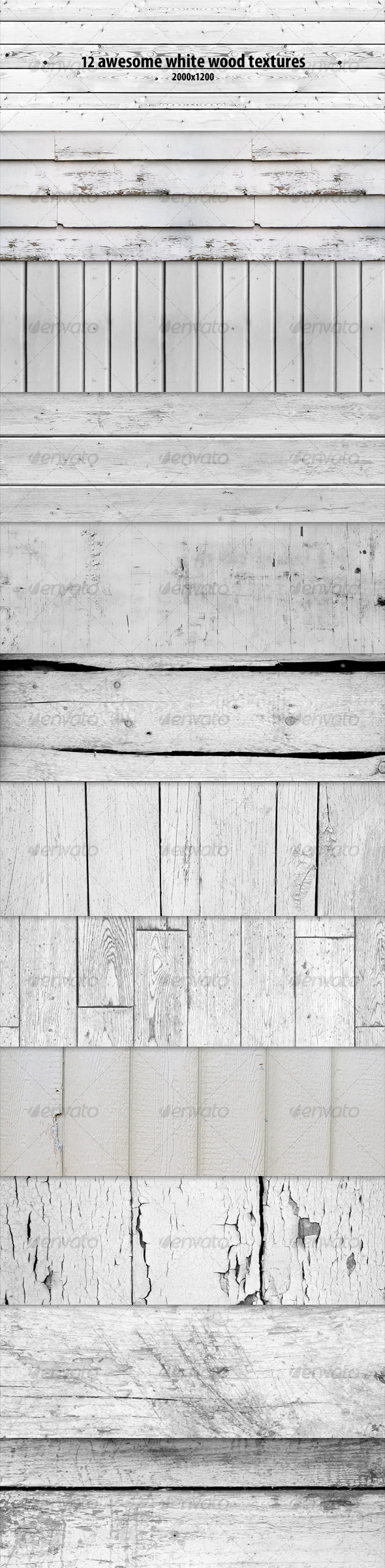 12 White Wood Textures - Wood Textures