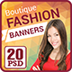 Boutique Fashion Banners - GraphicRiver Item for Sale