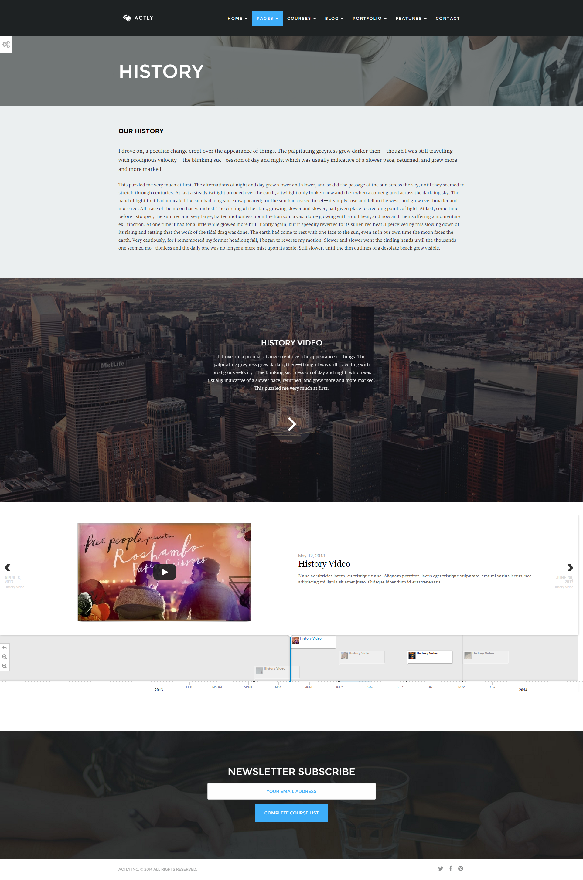 Actly - Educational Responsive HTML Template by createit-pl ...