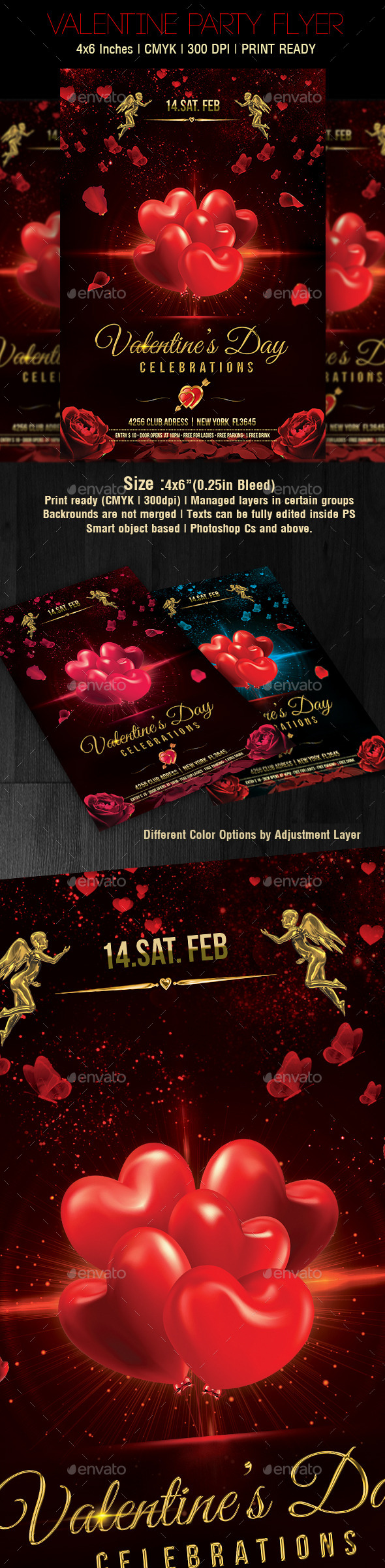 Valentines Day Flyer v5 - Clubs & Parties Events