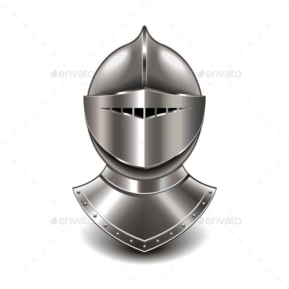 Medieval Knight Helmet - Miscellaneous Vectors