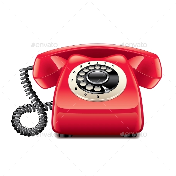 Retro Red Phone - Communications Technology
