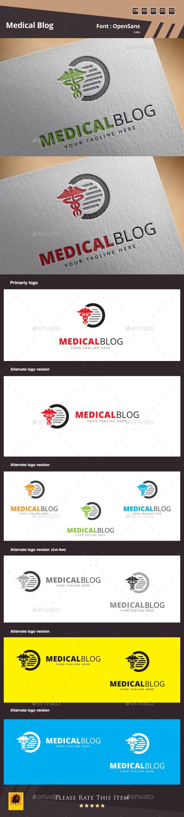 Medical Blog Logo Template - Symbols Logo Templates