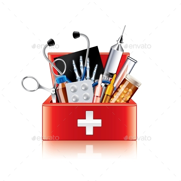 Medical Equipment Box - Health/Medicine Conceptual