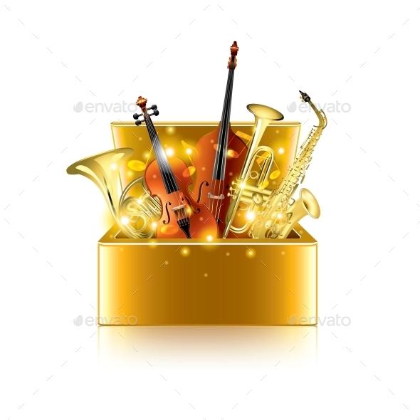 Musical Instruments Box - Miscellaneous Vectors