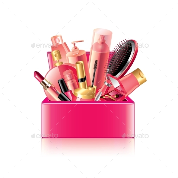 Cosmetics Box - Miscellaneous Vectors