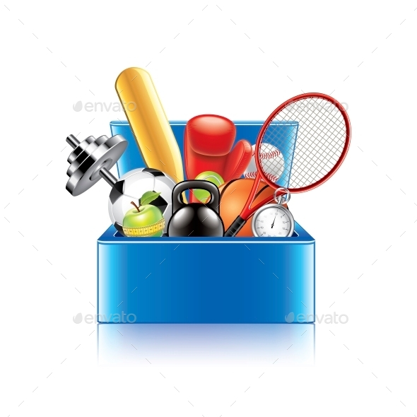 Sport Objects Box - Sports/Activity Conceptual