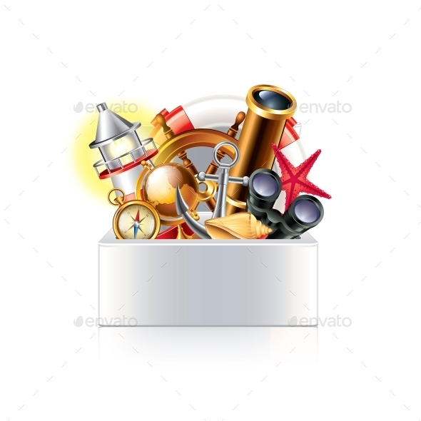 Nautical Objects Box - Travel Conceptual