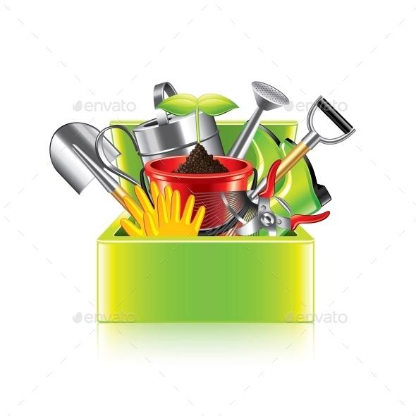 Garden Tools Box - Miscellaneous Vectors