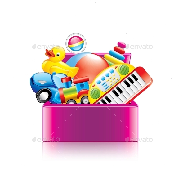 Children Toys Box - Miscellaneous Vectors