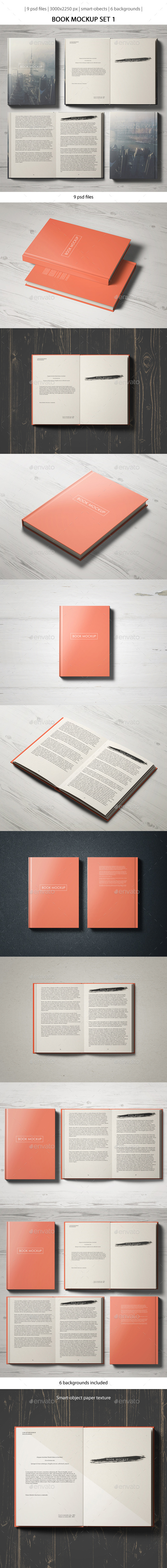 Book Mockup Set 1 - Books Print