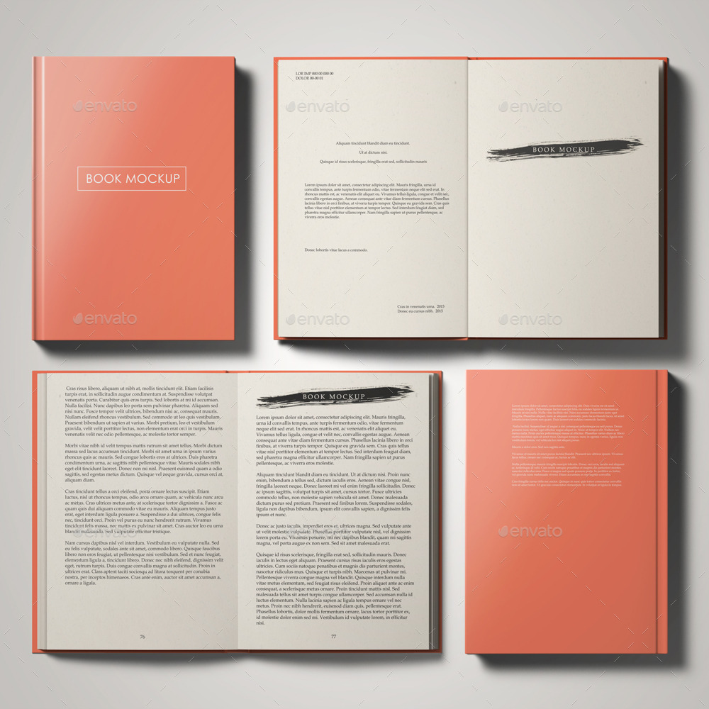 Cook Book Cover Up ~ Book mockup set by professorinc graphicriver