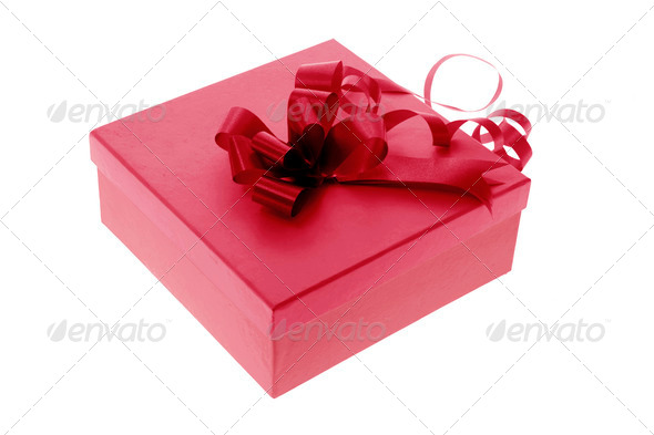 Gift Box with Ribbon - Stock Photo - Images