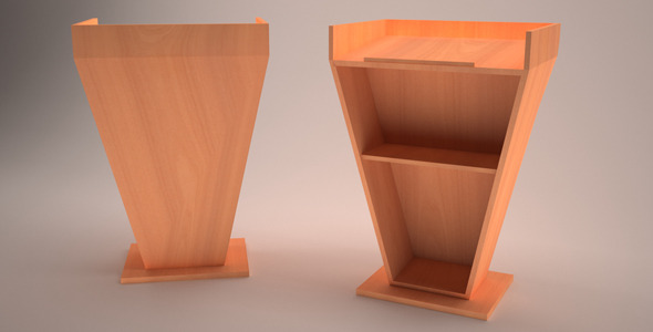3D Podium Model - 3DOcean Item for Sale