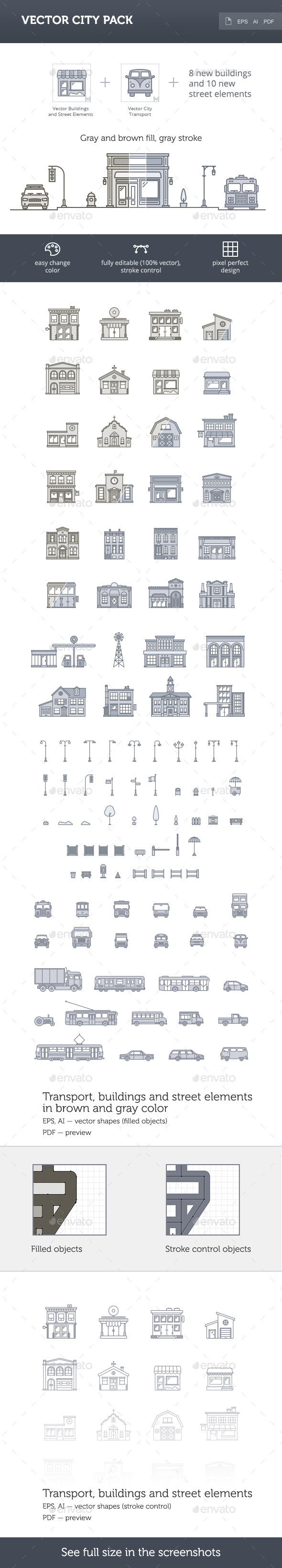 Vector City Pack - Buildings Objects