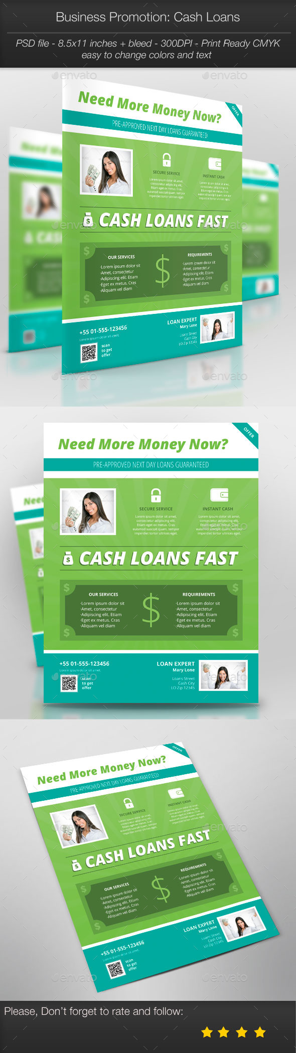 Business Promotion: Cash Loans - Corporate Flyers