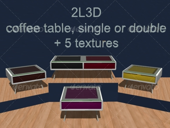 Coffee table 2L3D - 3DOcean Item for Sale